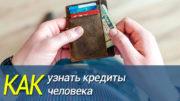 Узнать кредиты человека